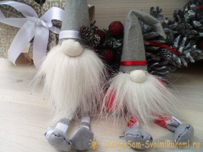 Cute gnomes for decorating a Christmas tree or decor
