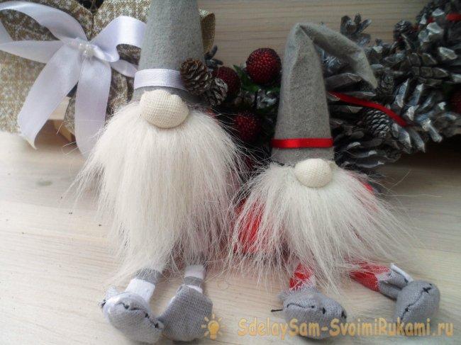 Новогодний декор своими руками: елочки, ангелочки, гномы, 21