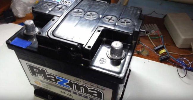 Зарядка автомобильного аккумулятора блоком питания от
