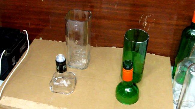 6 способов ровно разрезать стеклянную бутылку