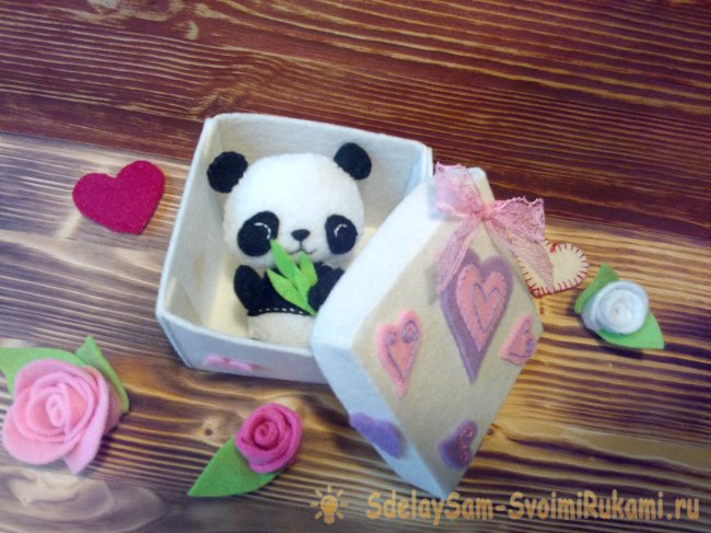 Gift box of felt