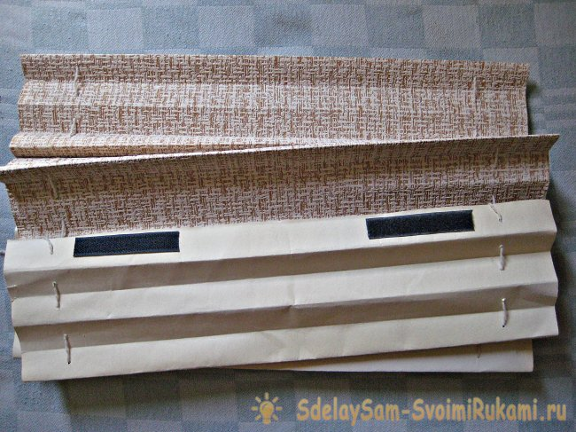 How to make blinds from wallpaper