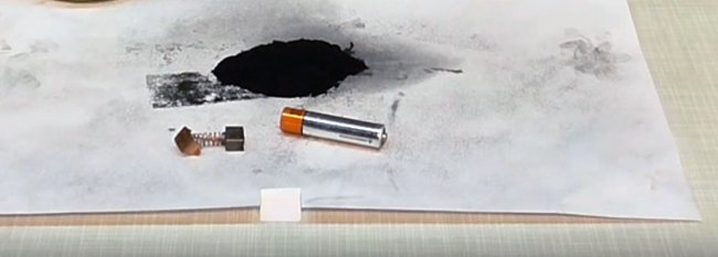 Закалка режущей кромки ножа графитом