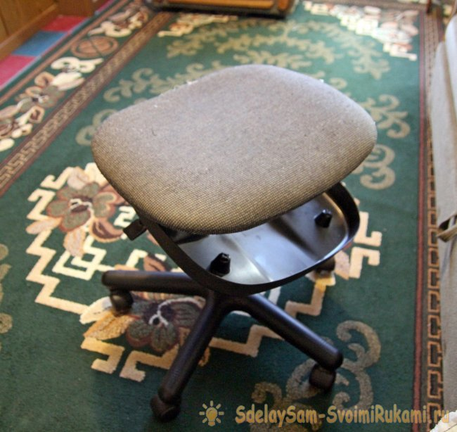 Sewing a cover on the chair with your own hands