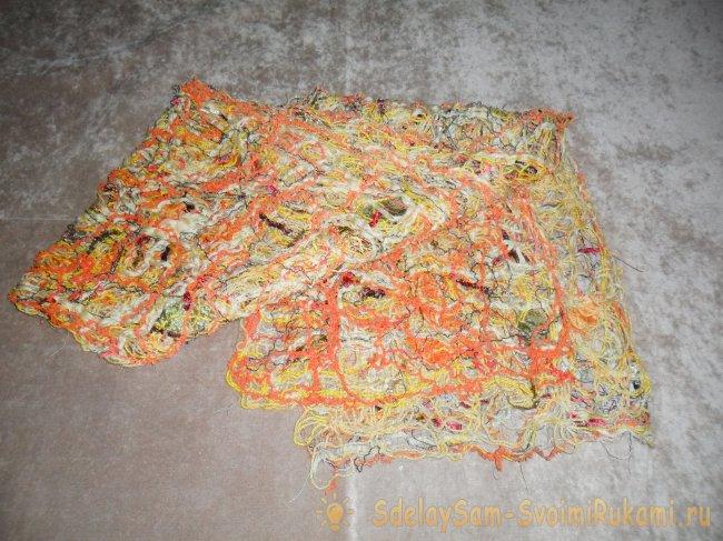 Мастер-класс: шарф в технике крейзи вул (Crazy Wool)