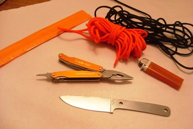 Braid knife handle paracord