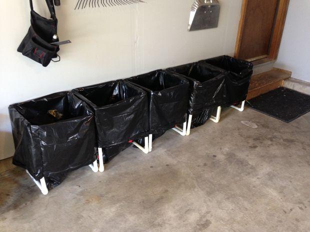 PVC pipe rack for garbage