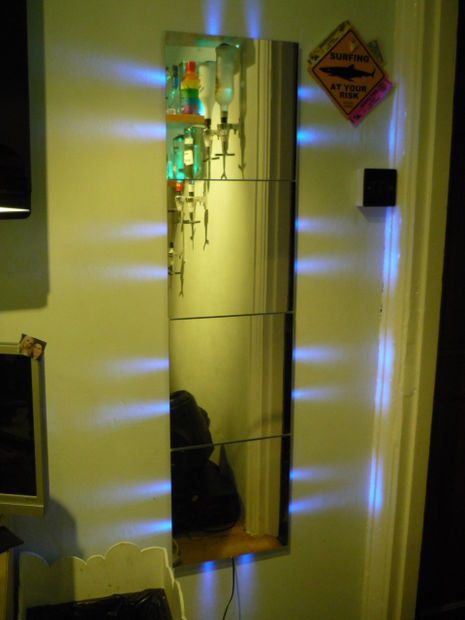 How to make a mirror with lights