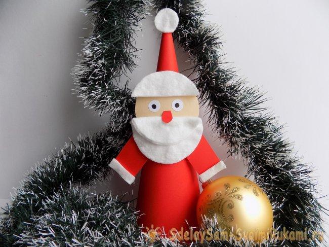 Дед Мороз из ватных дисков: мастер класс на Новый год