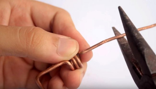 Mini soldering iron from the lighter