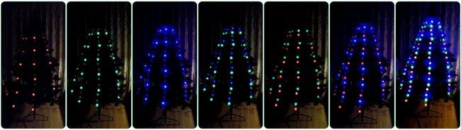 Объемная светодиодная гирлянда на елку