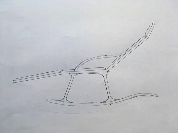 Шезлонг качалка