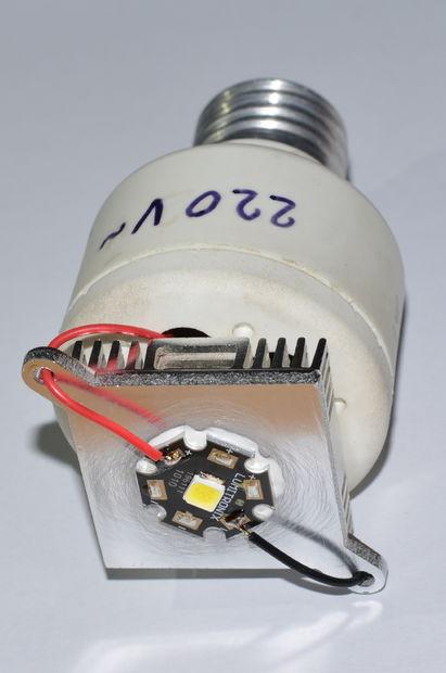 1516549240 9 - Делаем недорогую но очень мощную  светодиодную лампу