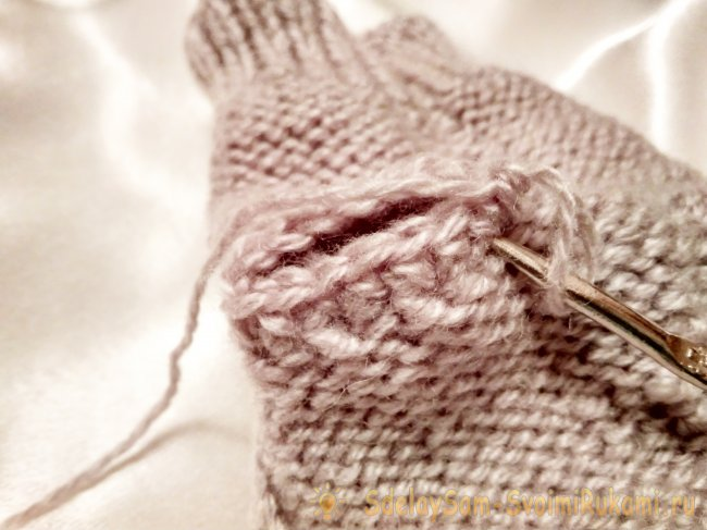 How to tie mitts with owl pattern