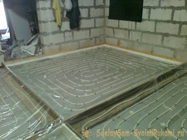 Quality installation of a water-heated floor