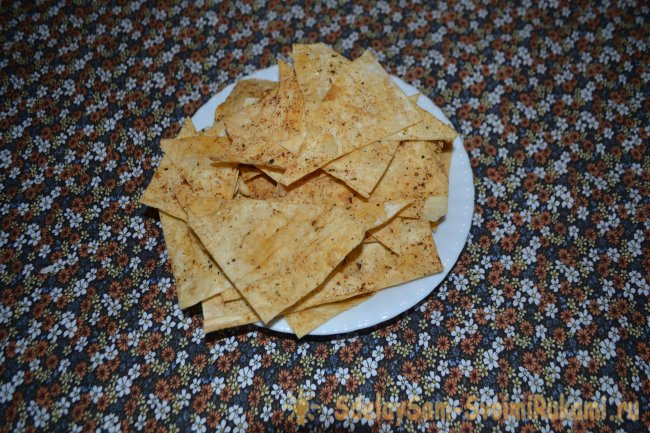 Homemade lavash chips