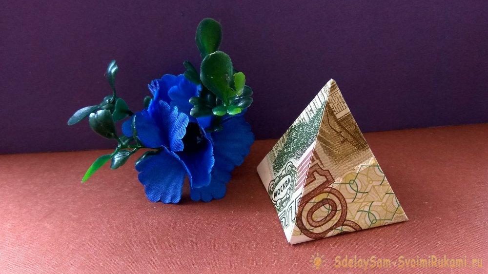 Оригами из денег: платье из купюры своими руками. Пошаговая схема ... | 562x1000
