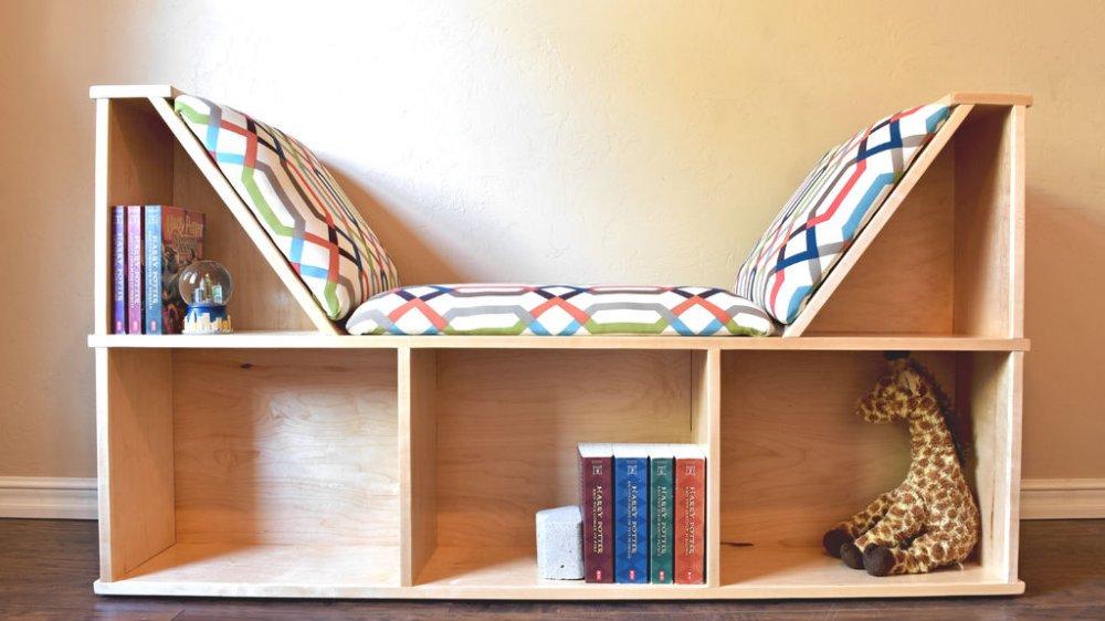 Уютное место для чтения и хранения книг