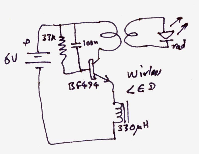 Беспроводной светодиод