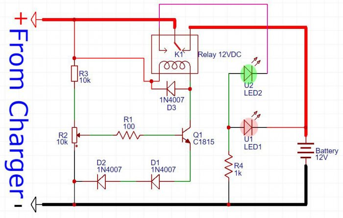 12 V automatic charger