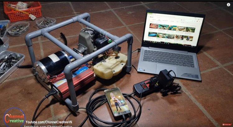 Как сделать генератор на 220 В с использованием 2-х тактного