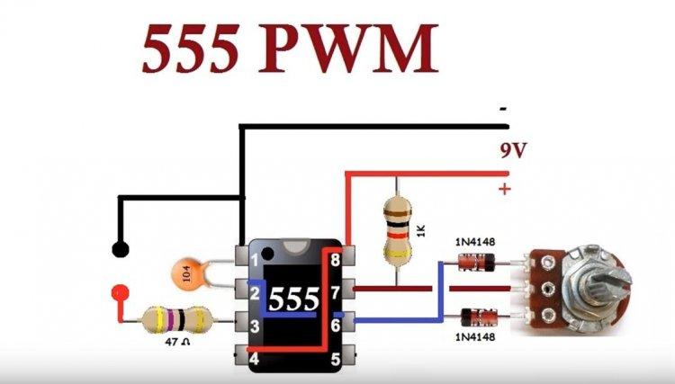 ШИМ регулятор на таймере NE555