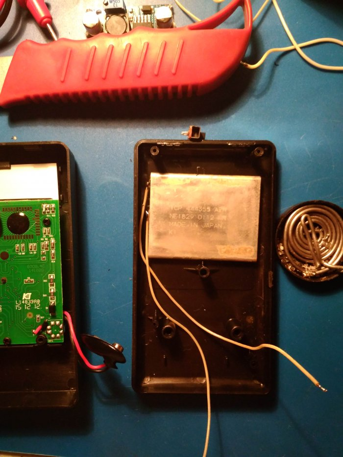 Alteration of the multimeter on li-ion with charging