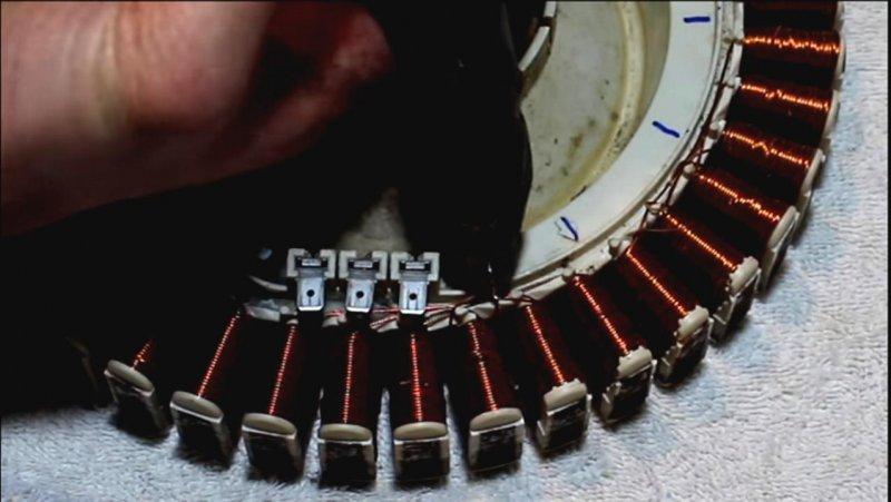Электрогенератор - переделка двигателя от стиральной машины