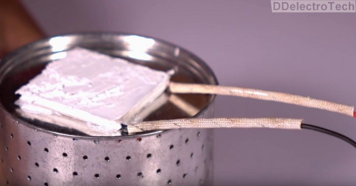 Simple thermoelectric generator with their own hands