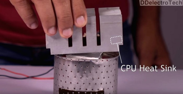 Simple thermoelectric generator with one's own hands