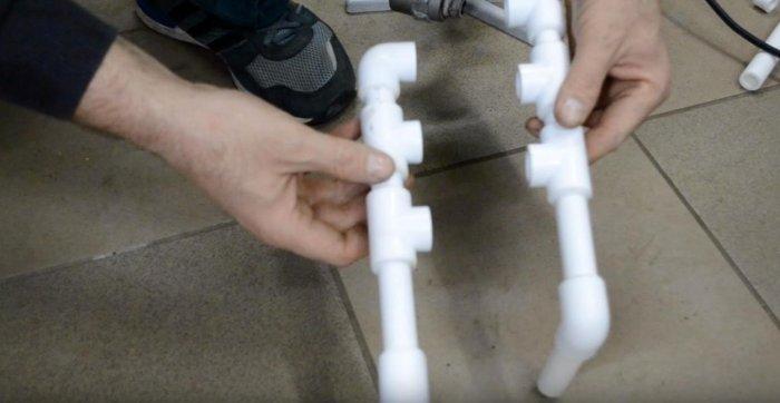 Сушилка на батарею из пластиковых труб