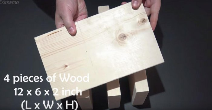 A simple press from the jack