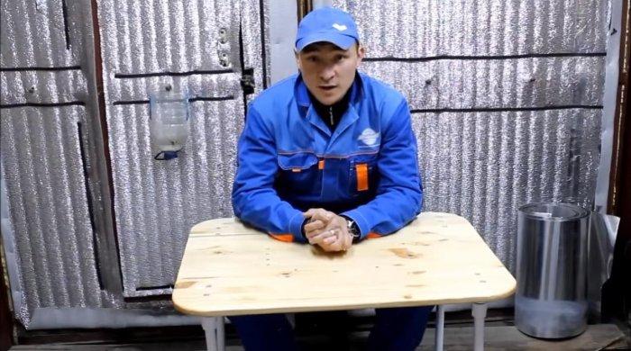 Складной стол из пвх труб