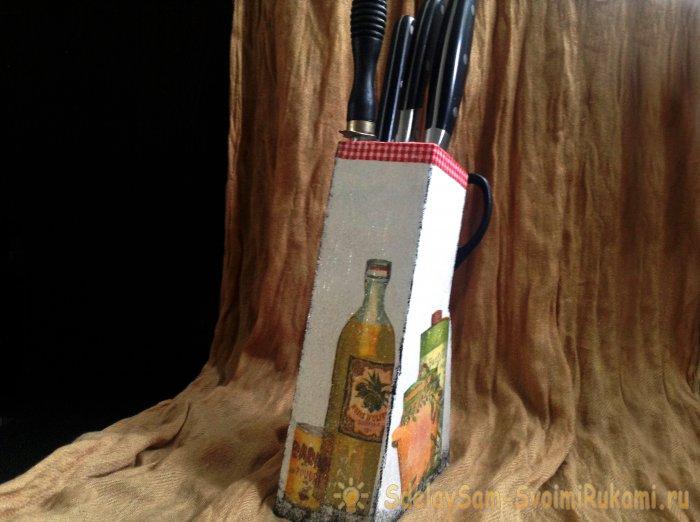 Старинная подставка для ножей – Ярмарка Мастеров