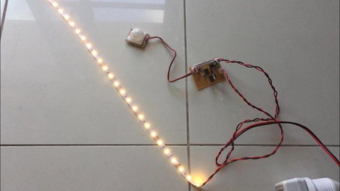 Automatic LED backlight with motion sensor
