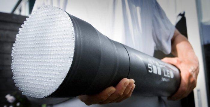 LED flashlight of 500 LEDs