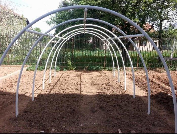 Simple PVC greenhouse