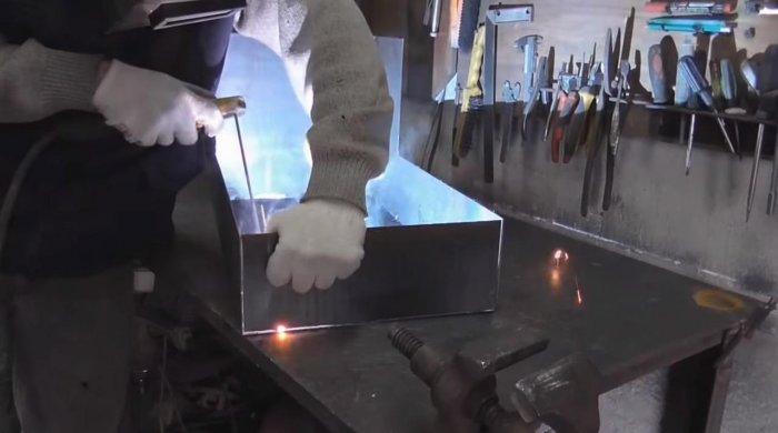 Brass from sheet steel