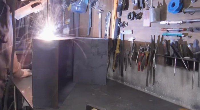 Brazier from sheet steel