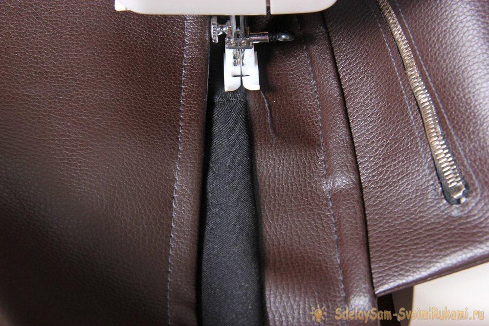 Шьем рюкзак из кожзаменителя