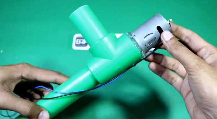 How to make a water pump from PVC pipes