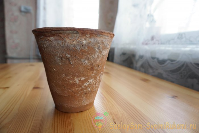 How to update a clay flower pot