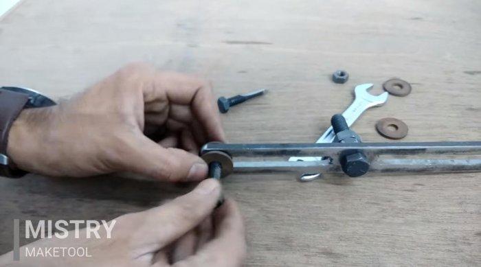 Adjustable ballerina for wood