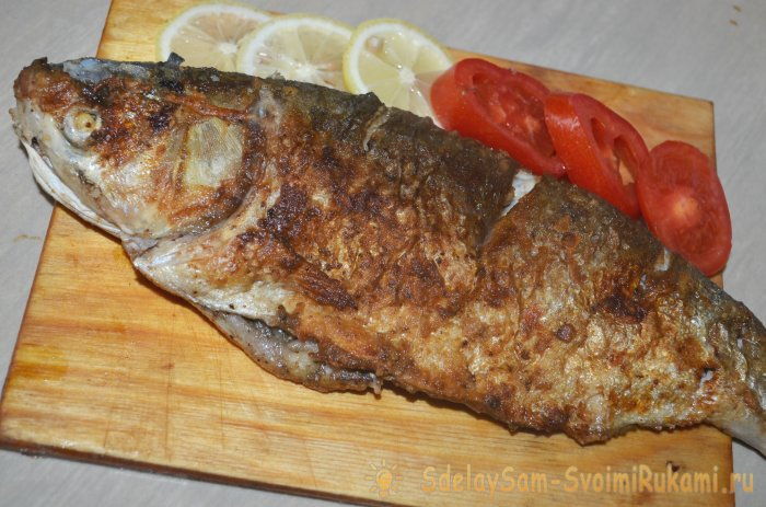 Whole roasted seabass