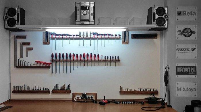 1523855885 1 - Делаем держатели для инструментов в гараже