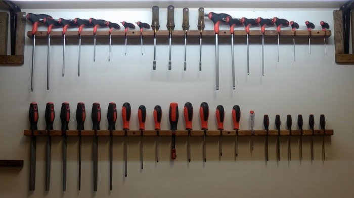 1523855904 31 - Делаем держатели для инструментов в гараже