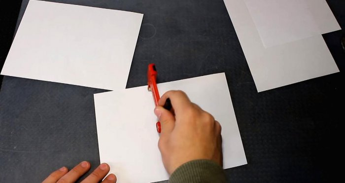 Cutting drywall plastic with ordinary paper
