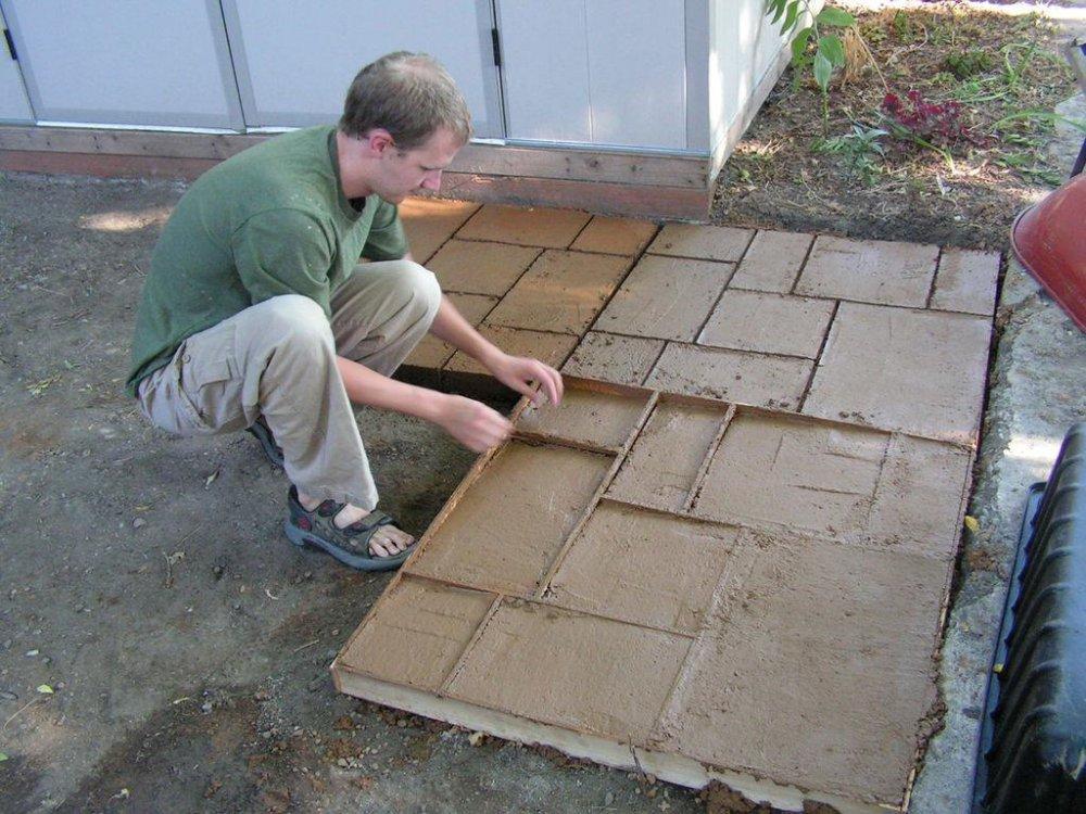 бетон перед домом
