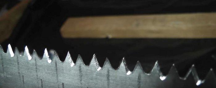 Как самостоятельно наточить ножовку по дереву