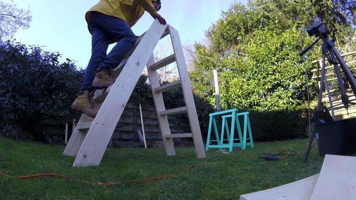 Складные деревянные лестницы - эксплуатация, характеристики